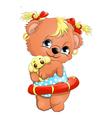 Bear girl vector