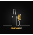 Champagne glass bottle menu background vector