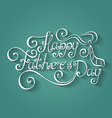 Happy fatherss day inscription with cravat vector