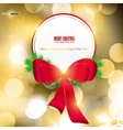 Elegant christmas background with red ribbon and p vector