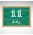 July 11 day calendar school board date vector