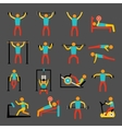 Workout training icons set vector