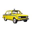 Soviet police car lada vector