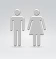 Silver person couple icon vector
