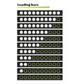 White loading bars vector
