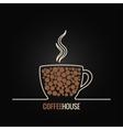 Coffee cup menu design background vector