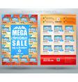 Christmas sale business flyer template eps10 vector