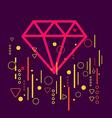 Diamond on abstract colorful geometric dark vector