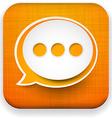 Web linen app speech bubble icon vector