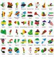 Africa maps vector