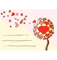 Greeting card for st valentines day vector
