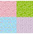 Set seamless pattern dandelion vector