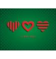 Three red hearts vector