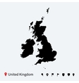 High detailed map of united kingdom with vector