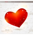 Beautiful red heart with diamonds valentines day b vector