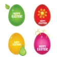 Easter eggs abstract creative sign vector