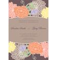Invitation floral card vector