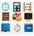 Different school icon set2 vector