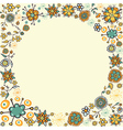 Spring vintage flower circle card background vector