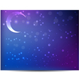 Night background with moon vector