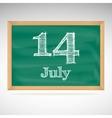 July 14 day calendar school board date vector