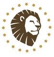 Lion head emblem vector