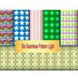 Six seamless pattern light vector