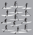 Stand up paddle boarding vector