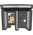 Payphone in a city vector