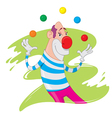 Clown juggling vector