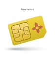 State of new mexico phone sim card with flag vector