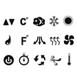 Air conditioner icons set vector