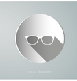 Icon paper glasses vector