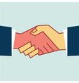 Flat handshake icon business vector