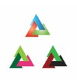 Triangle sign creative icon vector