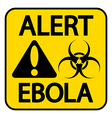Ebola danger sign vector