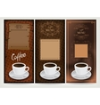 Three coffee design templates vector
