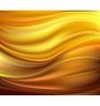Abstract texture yellow silk vector