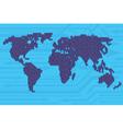 Digital world map vector