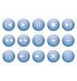 Buttons for music player vector