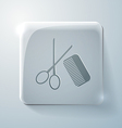 Scissors and comb barbershop vector
