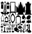 Antique furniture and objects vector