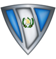 Steel shield with flag guatemala vector