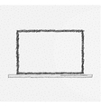 Hand drawn laptop design vector