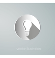 Icon paper lamps vector