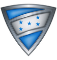 Steel shield with flag honduras vector