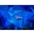 Blue business triangular background vector