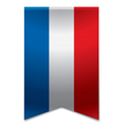 Ribbon banner - croatian flag vector