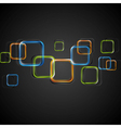 Colourful squares design vector