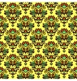Flower pattern damask summer vector